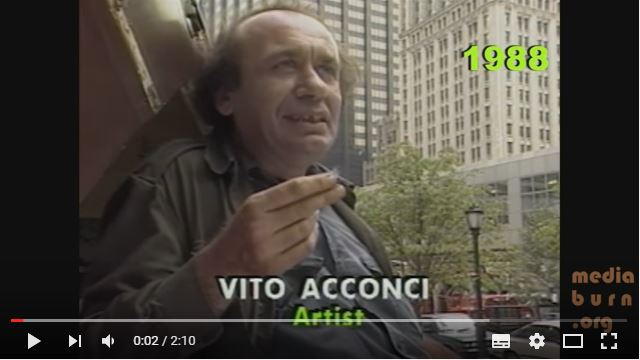 Vito Acconci on Changing the Landscape