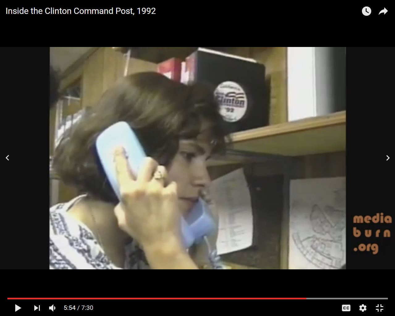 Inside the Clinton Command Center, DNC '92