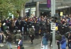 [Howard Zinn raw #80: Footage a WTO protest in Seattle which turns violent]