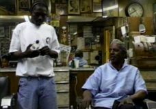 [Voices of Cabrini raw: George Robbins's Barbershop with angry man]