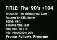 The 90's, episode 104
