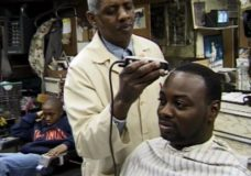[Voices of Cabrini raw: old barbershop – Pratt narration – new barbershop]