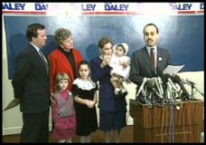 [Luis Gutierrez endorses Richard M. Daley over Eugene Sawyer]